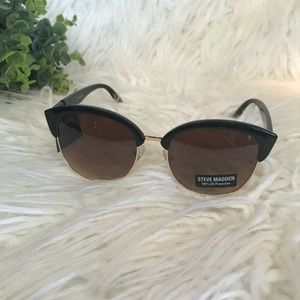 NWT Steve Madden Rimless Clubmaster Sunglasses